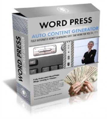 Product picture *NEW* WP Auto Content Generator With MRR